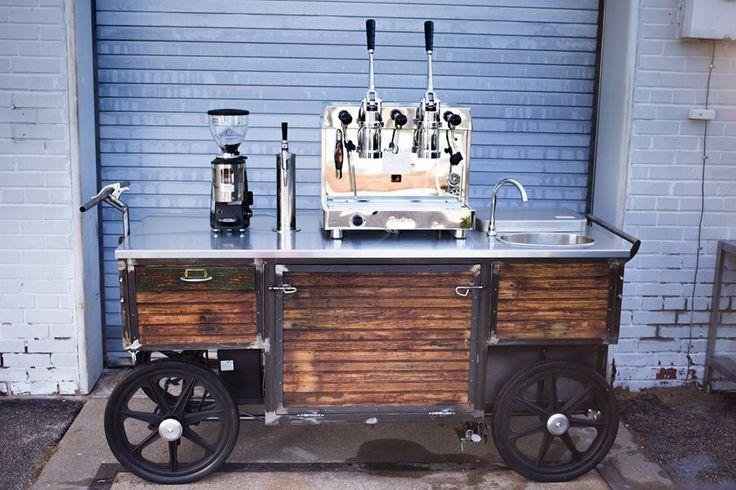 Coffee cart counter