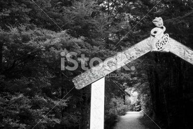 Gateway to the Riwaka Resurgence Walkway, NZ Royalty Free Stock Photo