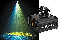 American  H2O LED Flowing Water Lighting Effect Fixture - Projects Moving Water Patterns in 6 Colors - 10-W LED - Auto and Sound Activated Modes