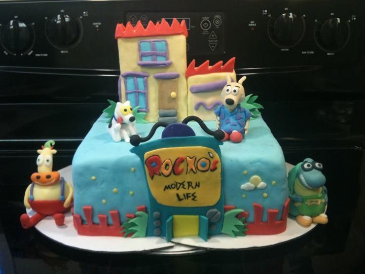Rocko 39 s modern life cake 90s birthday party ideas for 90 s decoration ideas