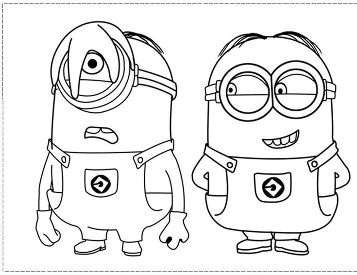 Phil And Stuart The Minion Coloring Pages