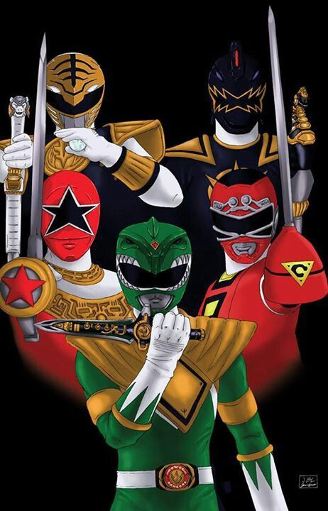 Tommy Oliver, Green Ranger, White Ranger, Zeo Ranger 5 - Red, 1st Red Turbo Ranger and Black Dino Ranger