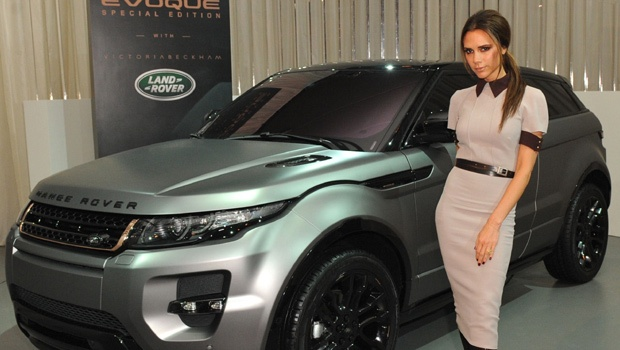 Victoria Beckham at the Land Rover launch Range Rover Evoque Special Edition on April 22, 2012, in Beijing. Rose gold grill people!!