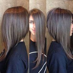 asymmetrical long hair - Google Search