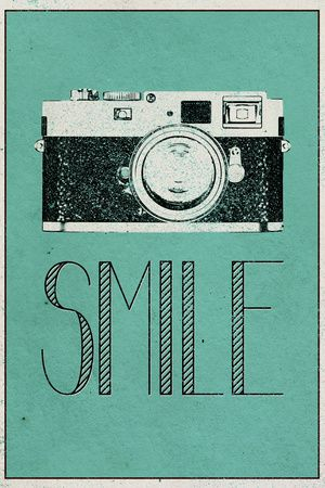 Smile Retro Camera Premium Poster at AllPosters.com