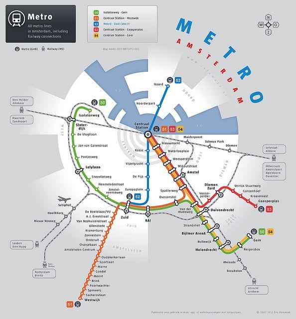 All sizes | Metrokaart inclusief Noord/Zuidlijn | Flickr - Photo Sharing!