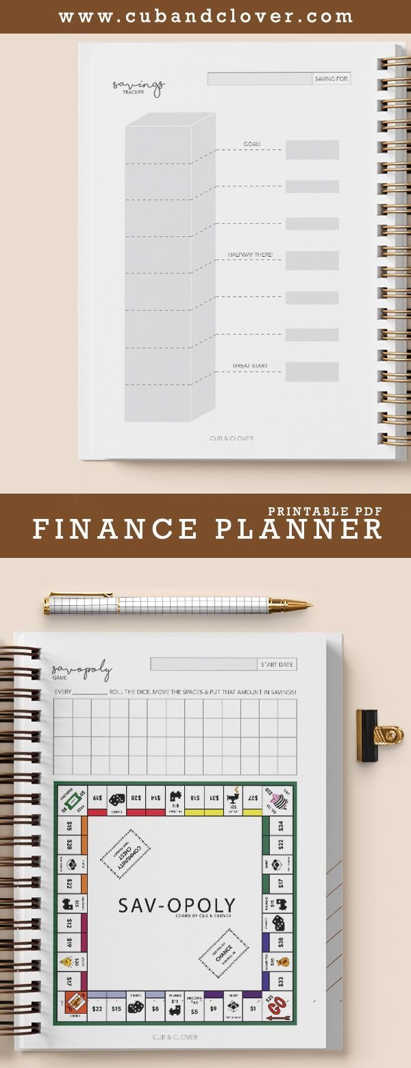 FINANCIAL PLANNER of Cub & Clover Improve the organization of your hobbies with …   – Planners, Printables, & Hand Lettering ♡