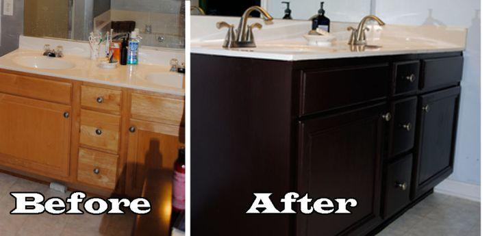 Best 25 painting bathroom vanities ideas on pinterest - Painting bathroom cabinets black ...