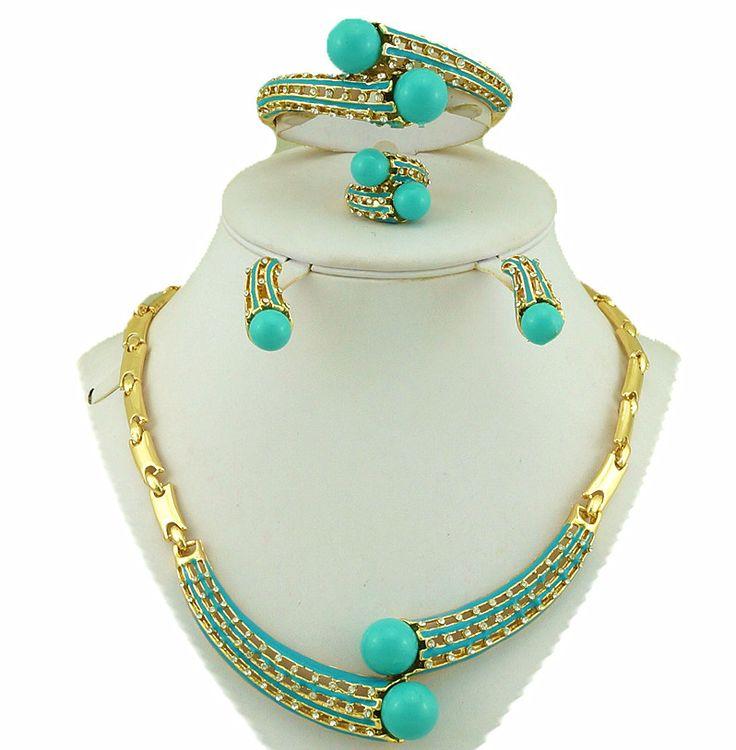 Africano set di gioielli da sposa africano grandi donne collana africano set di gioielli perline gioielli di moda indiano gioielli in oro