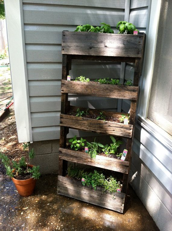 Wood Pallet Herb Garden by WoodPoste on Etsy, $40.00