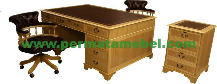 Set Meja Kerja Direktur Minimalis | Meja Kantor | Meja Kerja | Mebel Jepara | Furniture Murah