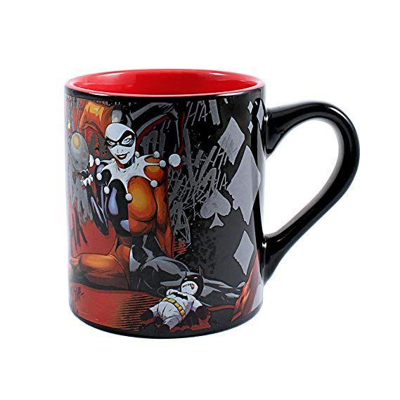 Batman Logo Coffee Mug Cup Ceramic 24 Oz DC Comics Super Hero Winter Themed NEW
