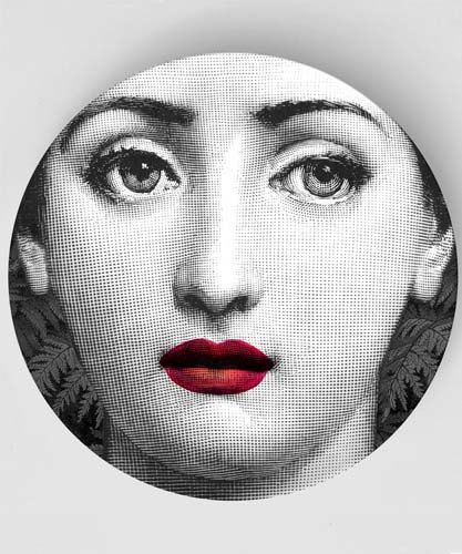 Ruby melamine plate with original Lina Cavalieri by TheMadPlatters  sc 1 st  Pinterest & 356 best Fornasetti images on Pinterest | Piero fornasetti Dishes ...