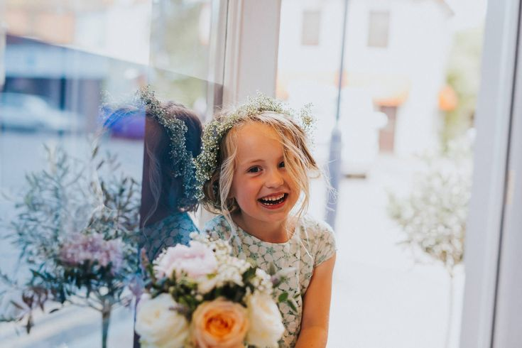 Gorgeous loose curls and a gyp flower crown is perfection for this gorgeous flower girl. Photo by Benjamin Stuart Photography #weddingphotography #flowergirl #gypcrown #flowercrown #naturallook #curls #cute #bridesmaid #flowers