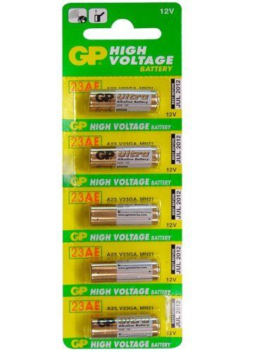Gold Peak - 23A Alkaline Batteries - 5 Pack by Gold Peak. $3.26. The shape and aspect ratio of the A23 battery are similar to those of a common AA battery. However, an A23 battery is much smaller than even an AAA battery, measuring only 29 mm long and about 10 mm in diameter, with a typical weight of 8 grams. An A23 battery is a dry cell-type battery mainly used in small electronic key fob devices, such as keyless vehicle entry systems, home security systems, and garage door openers.