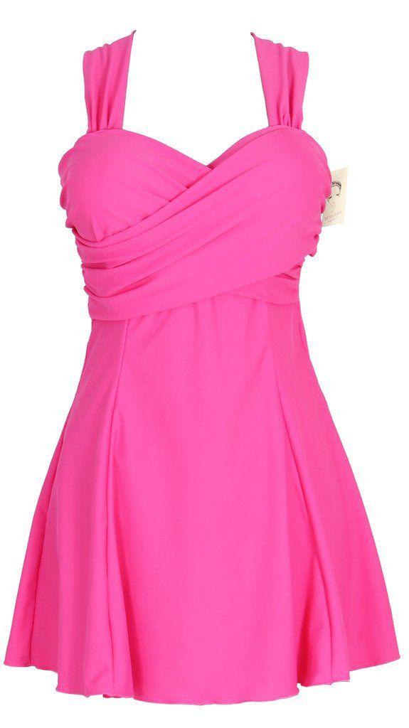 HengJia Women's Elegant Crossover One Piece Swimdress Swimsuit at Amazon Women's Clothing store: