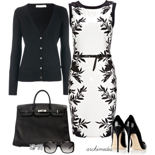 """Black and White"" by archimedes16 on Polyvore...sooo in love with this outfit!"