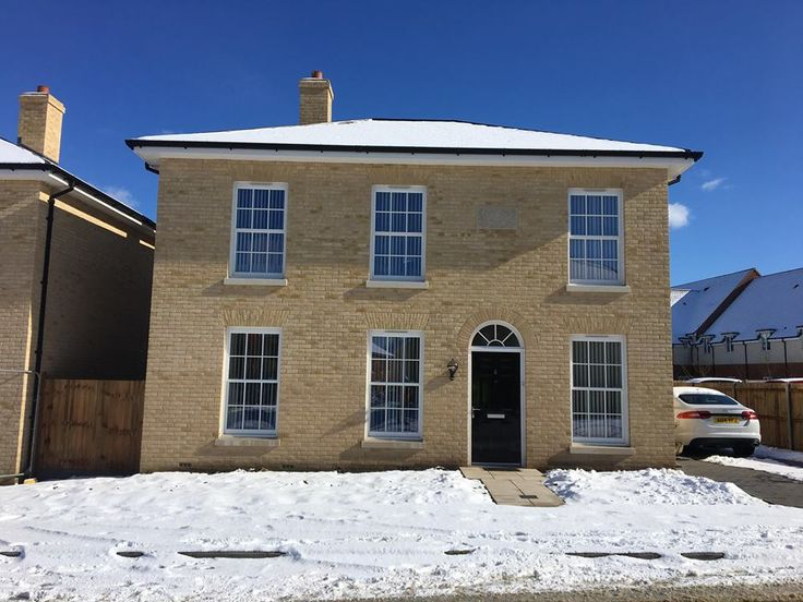 Our Heritage Rose Sash Windows in the snow recently! Our timber alternative Sash Windows mean you benefit from high security and thermal efficiency whilst keeping the charm and character of traditional sash windows!