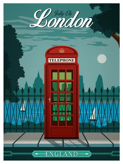 Image of Vintage London Travel Poster