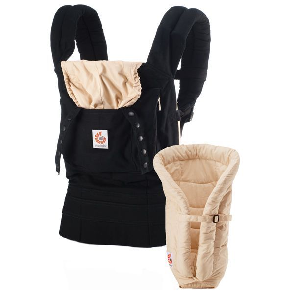 Ergobaby Original Collection Bundle of Joy - Black/Camel with Camel Insert (BCII6CANL) | Ergobaby