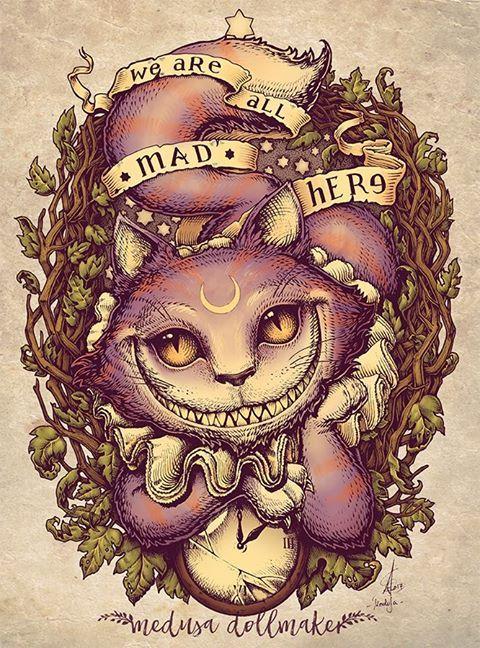 17 meilleures id es propos de tatouage du pays des merveilles sur pinterest tatouage du - Tatouage chat alice au pays des merveilles ...