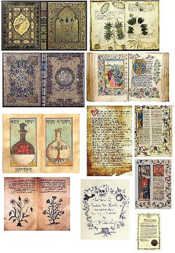 Miniature Medievil Book Printies by RosieCotton, via Flickr