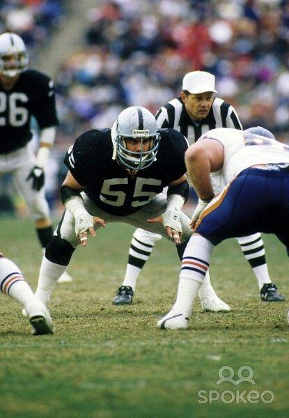 Matt Millen Oakland Raiders Los Angeles Raiders Silver and Black