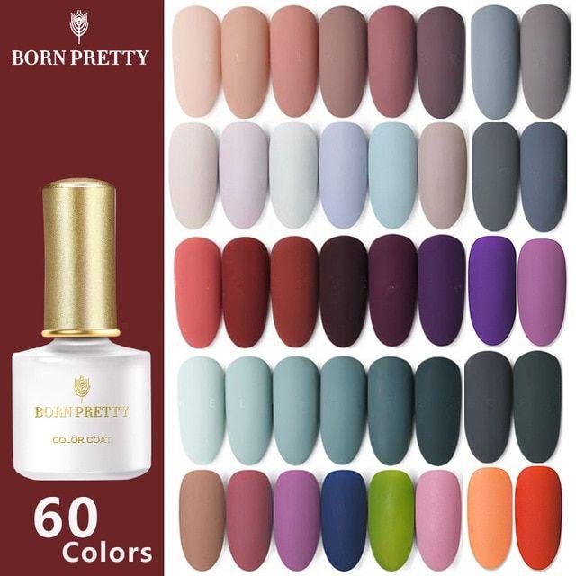 Born Pretty 60 Colors Matte Uv Gel Nail Polish In 2020 Nail Polish Uv Gel Nails Uv Gel Nail Polish