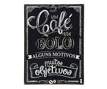 Box Decorativo Café e Bolo - 30X40cm                                                                                                                                                      Mais