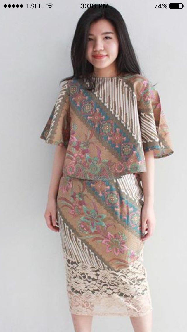Pin by De Wulan on klambi batik | Menjahit, Pakaian ...