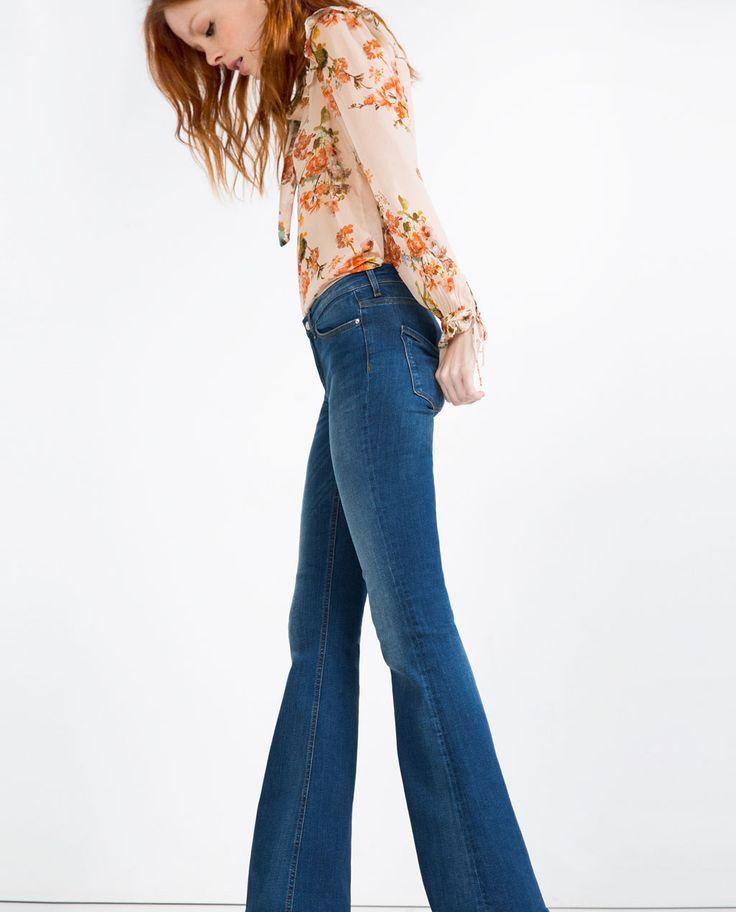 jean flare taille normale tout voir jeans femme zara france