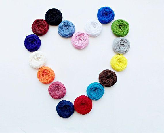 Chiffon Roses Handmade Appliques Embellishments  by BizimSupplies