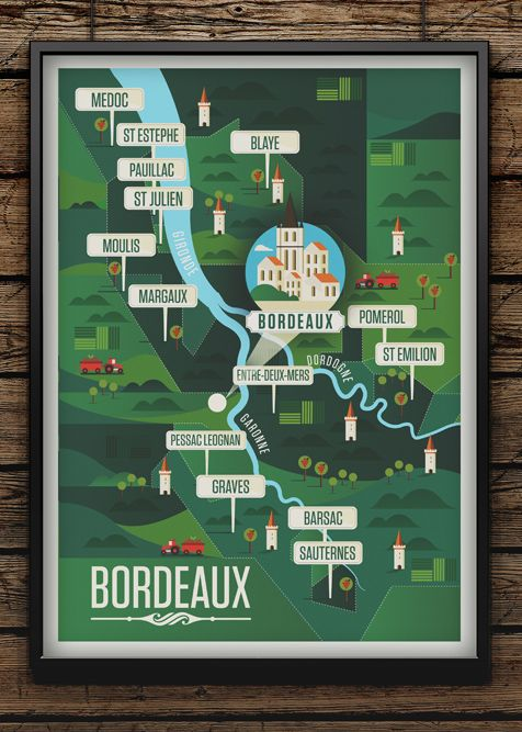Majestic Wine Maps on Illustration Served. To learn more about #Bordeaux, click here: http://www.greatwinecapitals.com/capitals/bordeaux