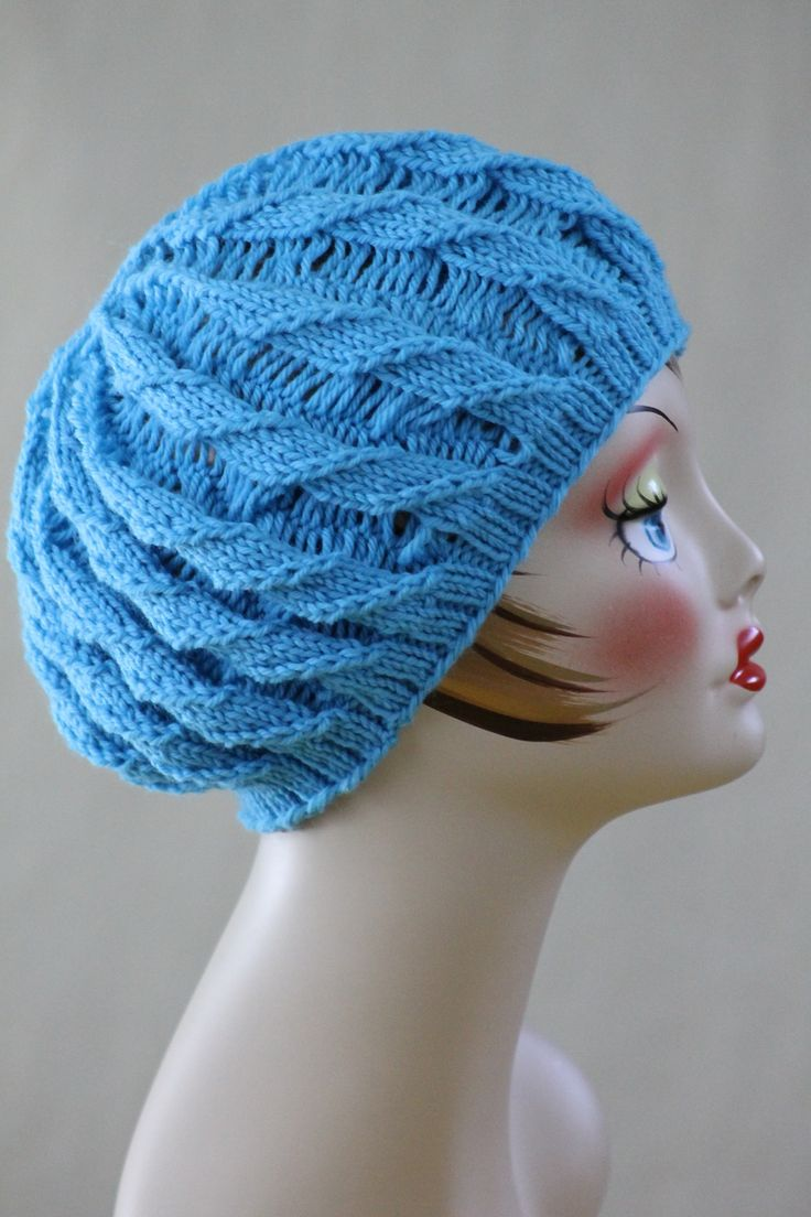 Knitting Crochet Patterns : Free knitting pattern hats twilled stripe hat