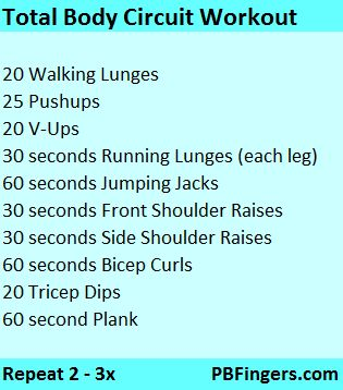 Great workout ideas-circuit workout total body