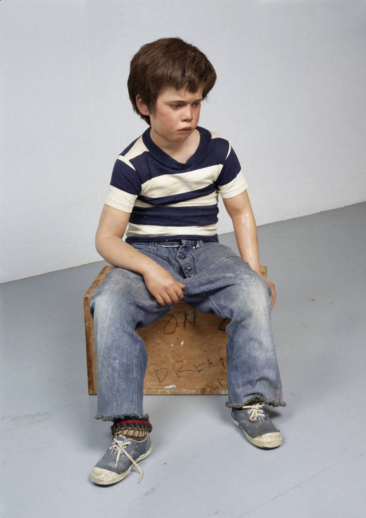 Seated Child - Duane Hanson, 1974 | Collection Boijmans