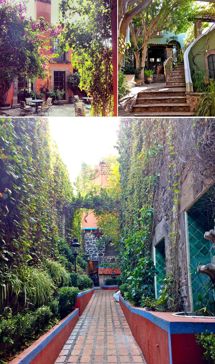 San Miguel De Allende, Mexican courtyards and design.