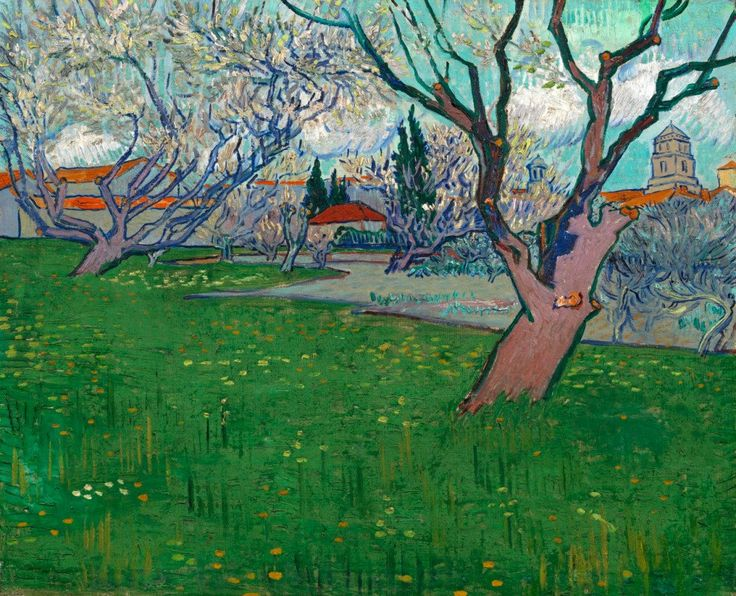 """""""Orchards in Blossom, View of Arles Arles"""", April 1889, Vincent van Gogh"""