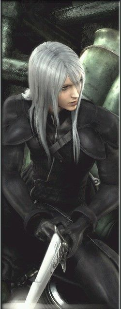 Yazoo - Represents Sephiroth's allure and charisma, and along with Seph and Tifa were the characters that took longer to animate because of long hair. (which explains why he has the least screen time of the Remnants)
