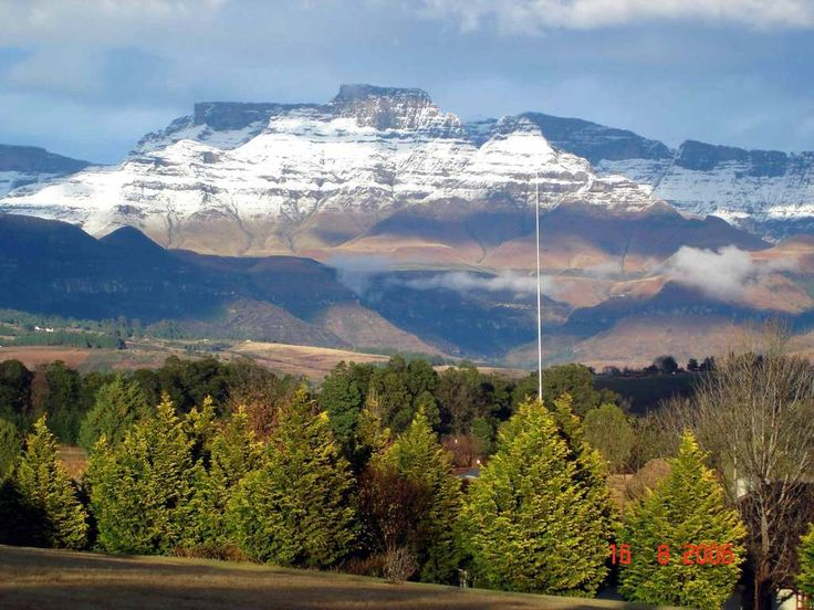 The Drakensberg mountains.