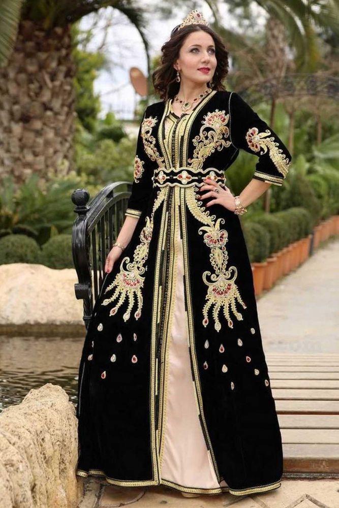 44f553d542 Blak Velvet Moroccan Caftan Abaya Long Maxi Dress Islamic Jilbab Jalabiya  Kaftan #women #dresses #trend #fashion #moda