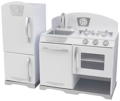 KidKraft Retro Kitchen and Refrigerator White - Free Shipping
