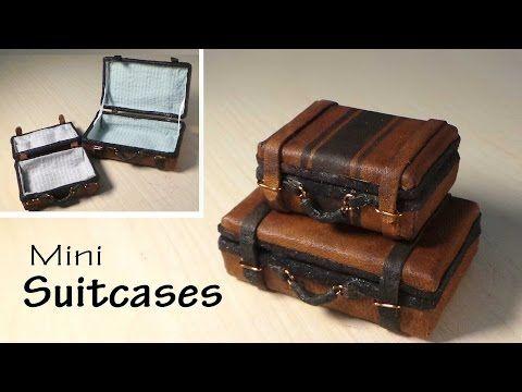 Simple Miniature Suitcase Tutorial - Dolls/Dollhouse - YouTube