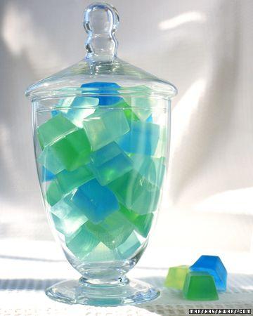 cubos de jabón de glicerina