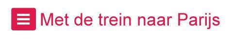 U kunt op een gemakkelijke manier: Parijs --> Trein. De Thalys rijdt vanaf Amsterdam, Schiphol en Rotterdam via Antwerpen en Brussel naar Parijs.....