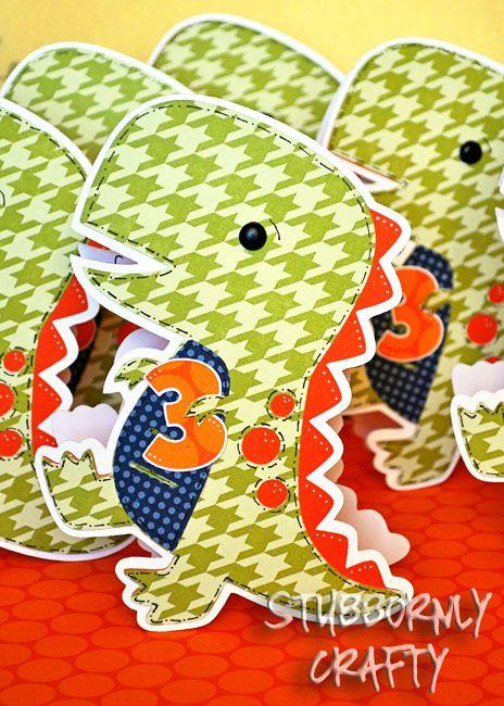 dinosaur handmade shaped birthday inviations boys birthday invite trex cricut invitation