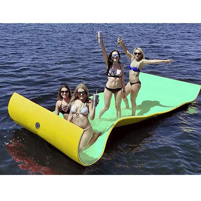 Goplus Floating Water Pad For Lakes Floating Foam Fun Mat Aqua Pad Designed For Water Recreation And Relaxing 11 5 X 6 Water Pad Water Mat Floating In Water