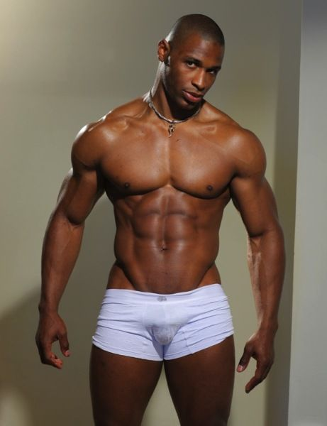 Big Black Man in Small White Shorts - Sinjyn... | Knockout ...