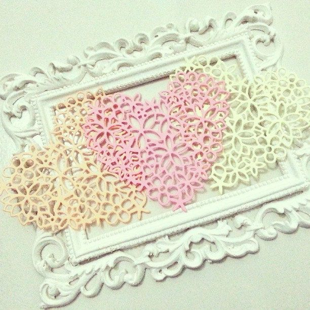 Heart Doily cut out, 1 pack of 10 pieces. Perfect for any occasion's project for your loved ones. by PaperCraftwithLove on Etsy