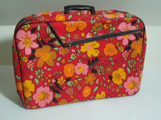 70s Floral Suitcase